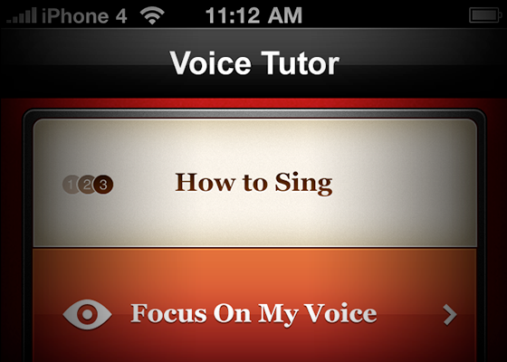 Voice Tutor User Interface